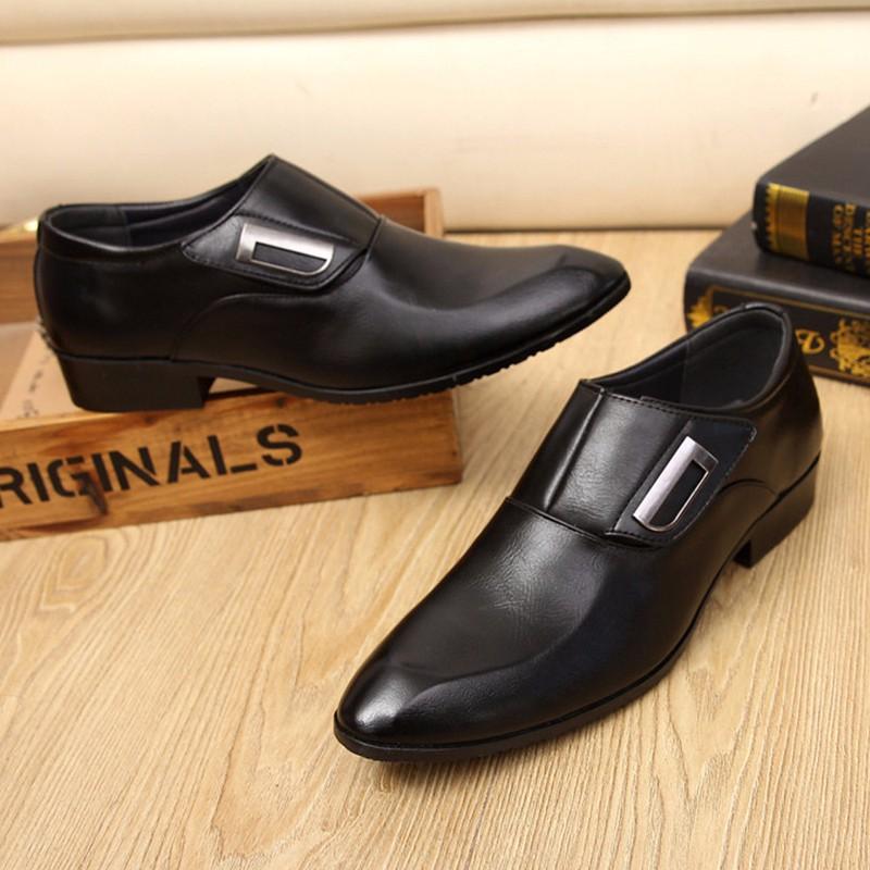 Giày tây thời trang nam chất liệu cao cấp , quai ngang độc đáo 610 5