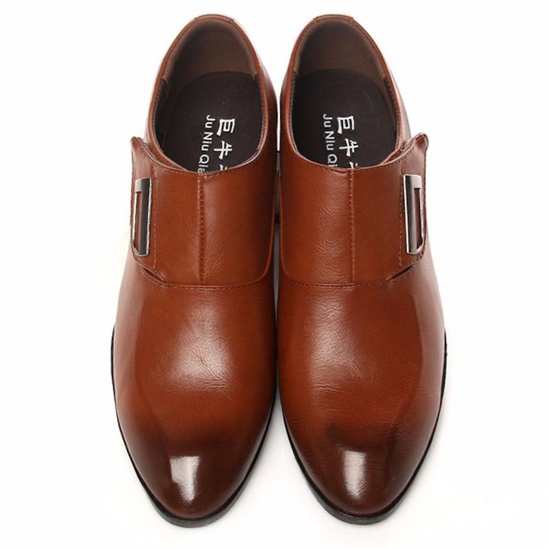 Giày tây thời trang nam chất liệu cao cấp , quai ngang độc đáo 610 3