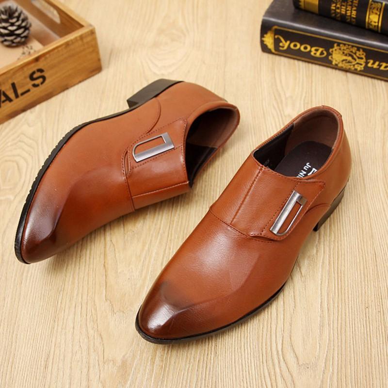 Giày tây thời trang nam chất liệu cao cấp , quai ngang độc đáo 610 2