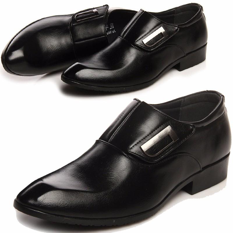 Giày tây thời trang nam chất liệu cao cấp , quai ngang độc đáo 610 6