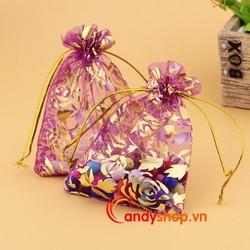 Túi voan vải dây rút 9 x 7cm - Combo 10 túi quà nhỏ candyshop88.vn