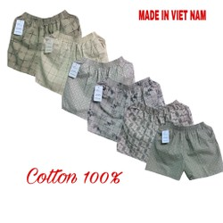Quần đùi nam cotton mát mặc nhà