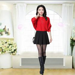 Sét chân váy xếp ly trên gối + quần váy