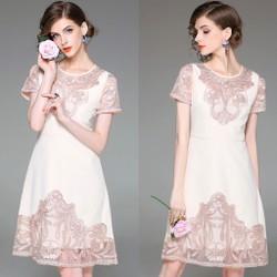 Đầm Suông Họa Tiết Thêu Cắt Lazer THƯỢNG CẤP HÀNG NHẬP A22082