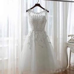 Đầm Xoè Ren Thêu Nổi