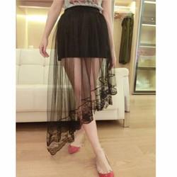 chân váy midi tà xéo xuyên thấu Mã: VN528