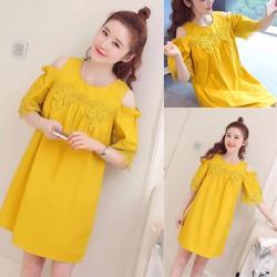 Váy suông màu vàng xinh xắn