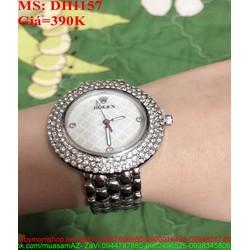 Đồng hồ dây inox đinh viền hạt sang trọng cao cấp DHI157