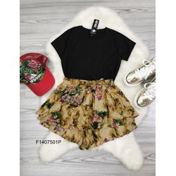 Set áo thun tay von quần short hoa  - MS: S140701 Gs: 105k