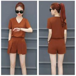 Set short áo cổ tim quần giả váy cách điệu TP1327