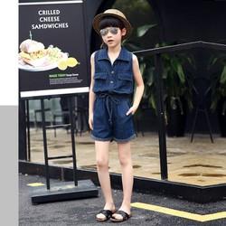 Jumsuit short jean cho bé gái - RMS01688