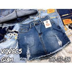 Quần váy jean rách Bigsize 36-38
