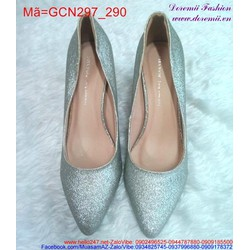 Giày cao gót mũi nhọn ánh nhũ nổi bật sành điệu GCN297