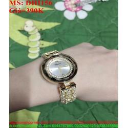 Đồng hồ dây inox mặt tròn vàng sang trọng DHI156