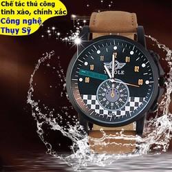 Đồng hồ chính hãng cơ cao cấp mạ crom mặt sapphire chống nước Thụy Sĩ