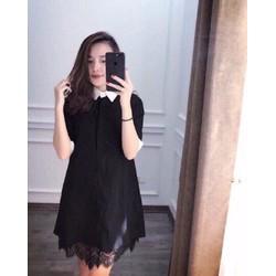 Đầm suông phối chân ren thời trang