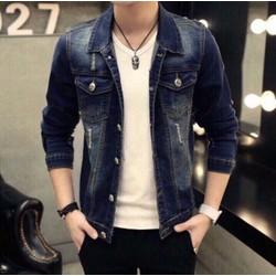 Sales Áo Khoác Jeans Nam Form Chuẩn Men