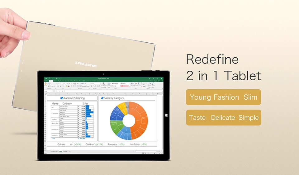 máy tính bảng Teclast Tbook 10 S Windows 10 + Android 5.1 3