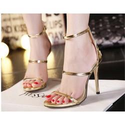 giày 3 quai ánh nhũ