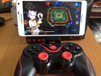 Tay cầm chơi game bluetooth TERIOS cho điện thoại,laptop, ipad, tivi 4