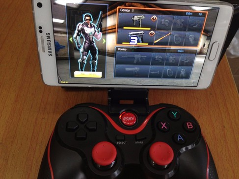 Tay cầm chơi game bluetooth TERIOS cho điện thoại,laptop, ipad, tivi 7