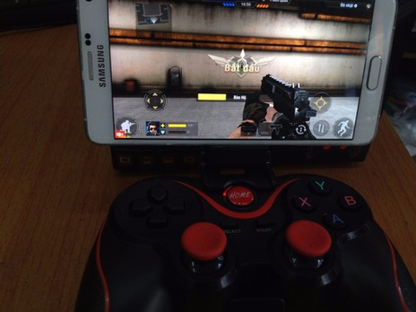 Tay cầm chơi game bluetooth TERIOS cho điện thoại,laptop, ipad, tivi 9