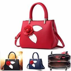 Túi xách nữ hoa hồng thời trang