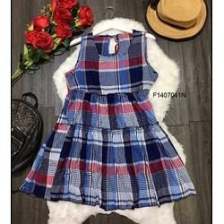 Đầm xoè baby doll caro hàng nhập - MS: S140756 GS: 140K