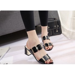 dép nữ đế vuông - dép nữ cao gót - dép thời trang 2017 - giày dép