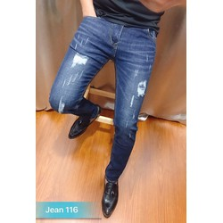 Quần jeans rách nam màu xanh co giản MS116