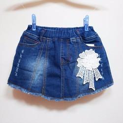 Váy quần jean bé gái thêu hoa size đại