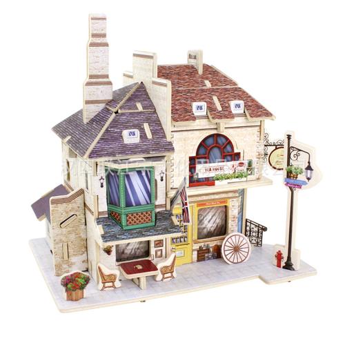 Đồ chơi lắp ráp gỗ 3D Mô hình Phòng Trà Anh