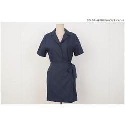 Đầm cổ vest đắp tà