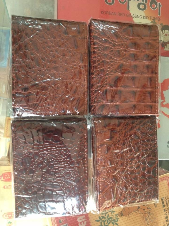 bóp ví da cá sấu cao cấp màu đỏ đô cực đẹp 2