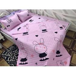 Drap giường cotton thỏ