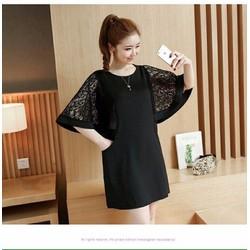 Đầm Suông Tay Cánh Tiên Phối Ren - D10417130