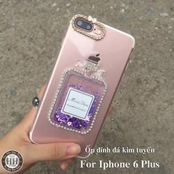 Ốp lưng Iphone 6 Plus đính đá kim tuyến