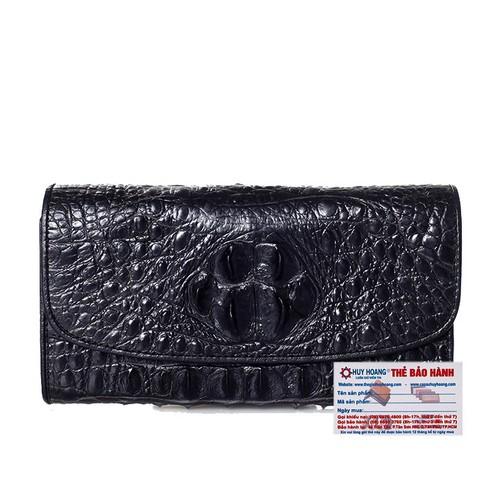 Ví nữ da cá sấu Huy Hoàng 3 gấp màu đen - 11032126 , 6341461 , 15_6341461 , 3499000 , Vi-nu-da-ca-sau-Huy-Hoang-3-gap-mau-den-15_6341461 , sendo.vn , Ví nữ da cá sấu Huy Hoàng 3 gấp màu đen