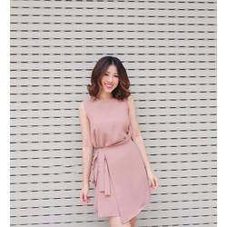 Đầm Suông Đắp Tà Cột Eo