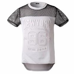 áo thun chữ nổi new york Mã: NT1716 - TRẮNG