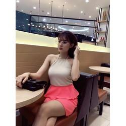 Đầm yếm peplum Quãng Châu