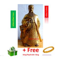 Tượng Khổng Minh bằng đồng thau