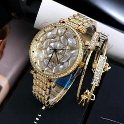 Đồng hồ nữ Cp cao cấp kèm vòng tay