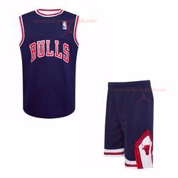 Quần áo bóng rỗ Chicago Bulls xanh 2 || áo bóng rổ