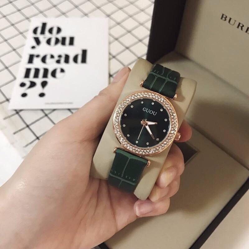đồng hồ thời trang dây da nữ 2