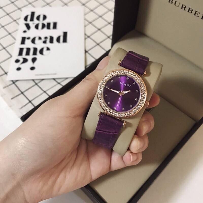 đồng hồ thời trang dây da nữ 1