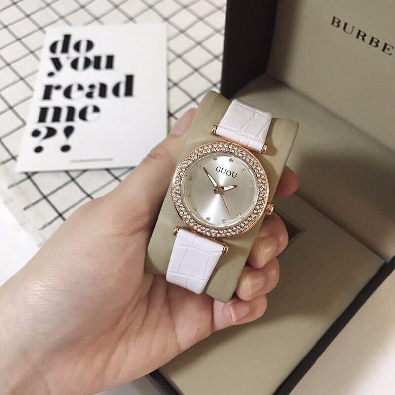 đồng hồ thời trang dây da nữ 3