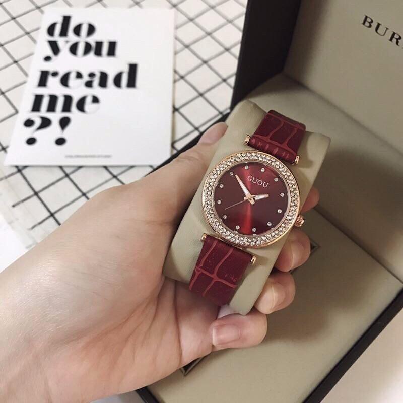 đồng hồ thời trang dây da nữ 5