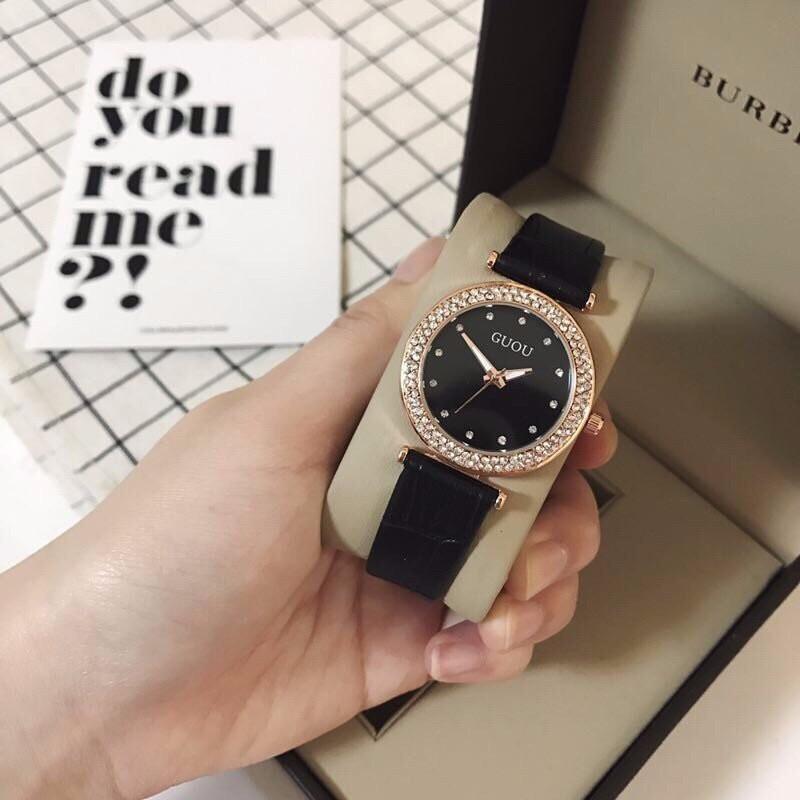 đồng hồ thời trang dây da nữ 4