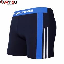 Quần bơi nam cao cấp cá tính QB09 - Sọc xanh dương